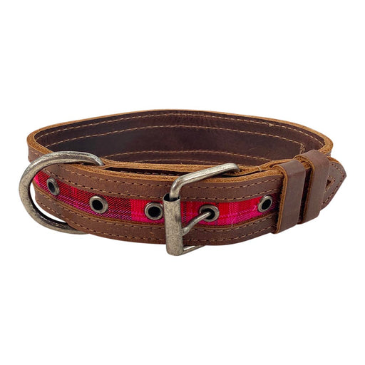 Mayan Leather Dog Collar