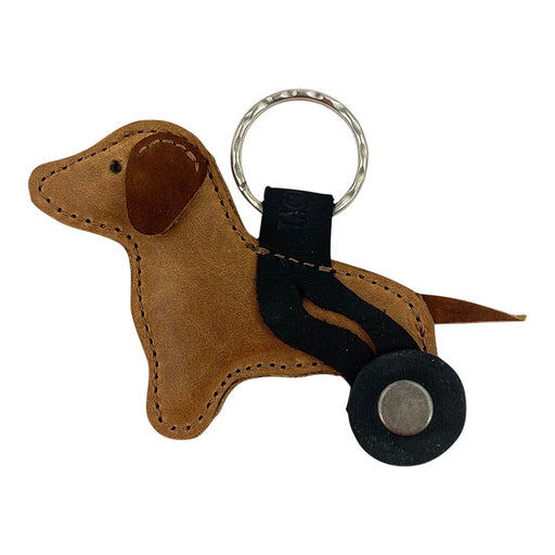 Dog With Wheelchair Keychain