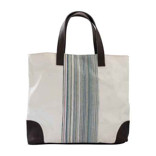 Deluxe Canvas & Leather Tote Bag