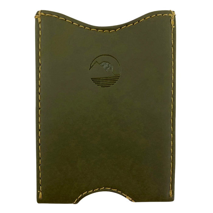 Fruit & Vegetable Front Pocket Wallet - Cactus Leather & Waxed Canvas - Cactus Leather Exterior with Waxed Canvas Interior