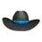 Indiana Eastwood Cowboy Hat Handmade from Wood Pulp Raffia - Black