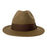 Short Brim Panama Hat Handmade from 100% Oaxacan Wool - Brown