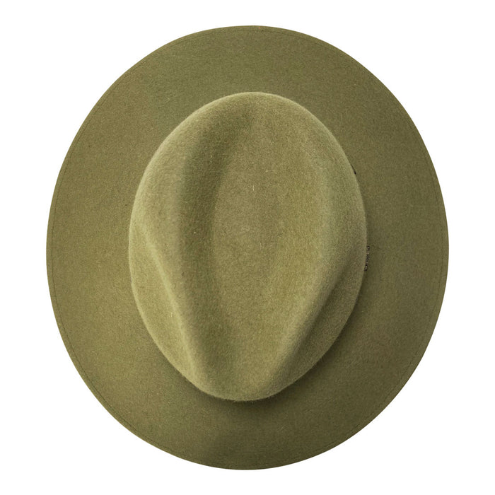 Indiana Eastwood Cowboy Style Hat Handmade from 100% Oaxacan Sheep's Wool - Forest Green