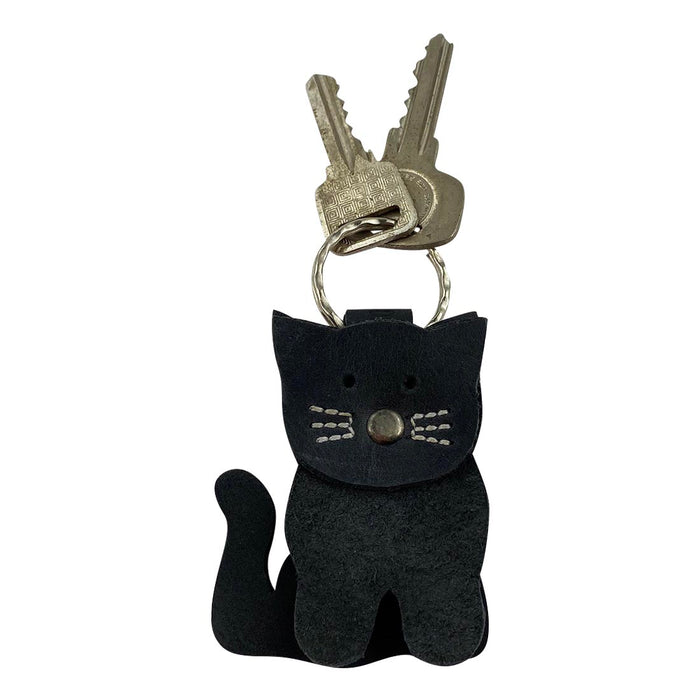 Stacked Cat Keychain