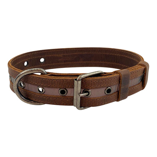 Rustic Reflective Dog Collar