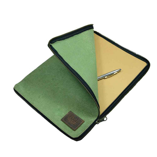 Waxed Canvas Zippered Journal Cover for Moleskine XXL (8.5 x 11 in.) Notebook NOT Included.