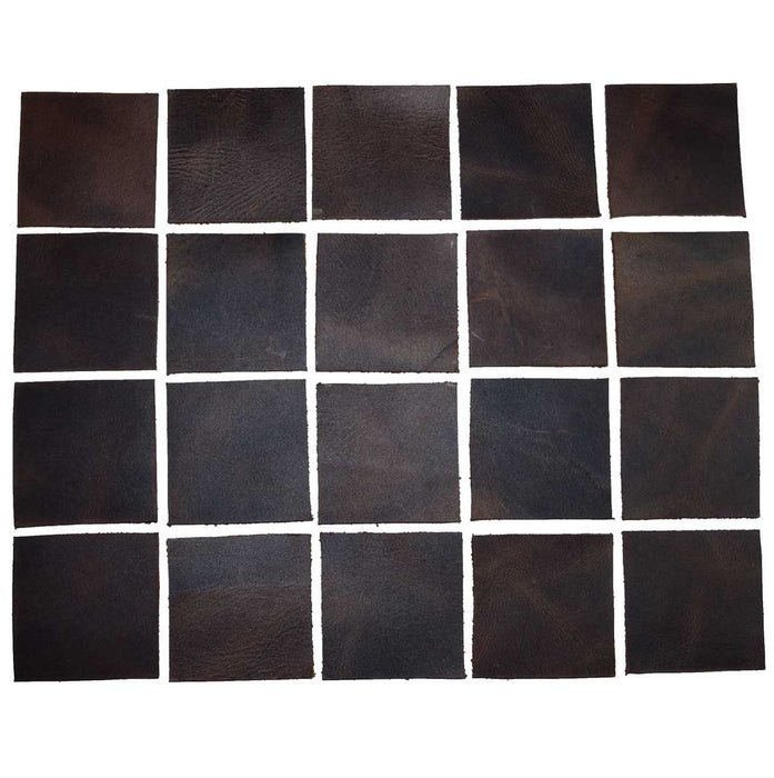 Leather Square Shapes 2 x 2 inches (Set of 20)