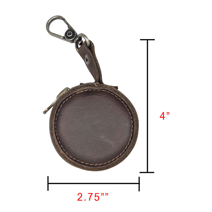 Durable Leather Earbud Case