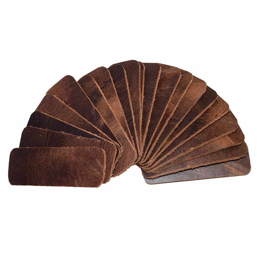 Leather Rounded Rectangular  0.75 x 2 in. (Set of 20)