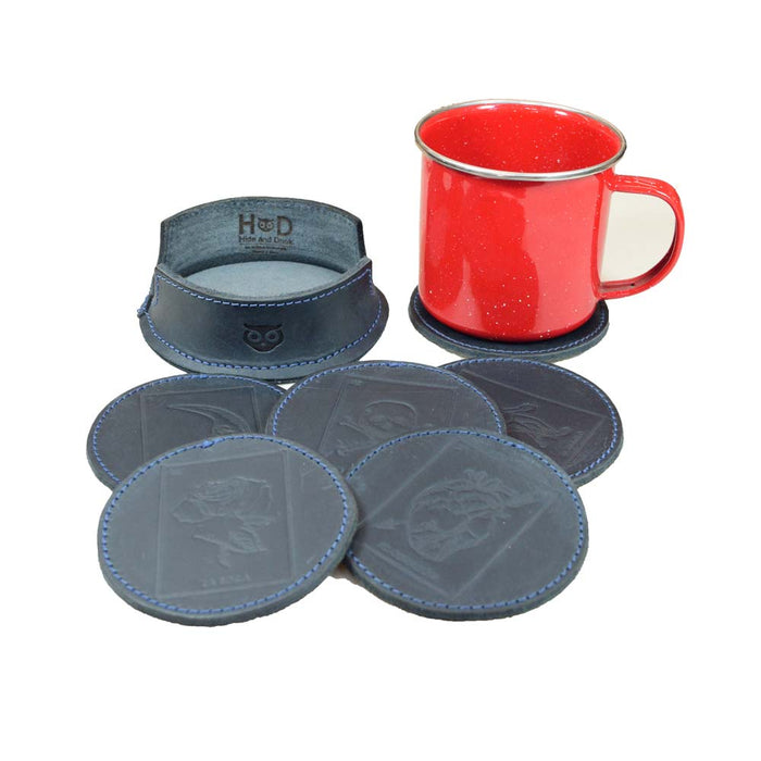 Thick Leather Loteria! Coasters (6-Pack)
