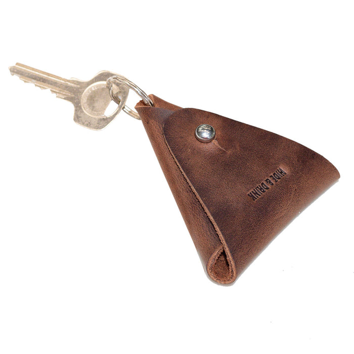 Triangular Coin Keychain