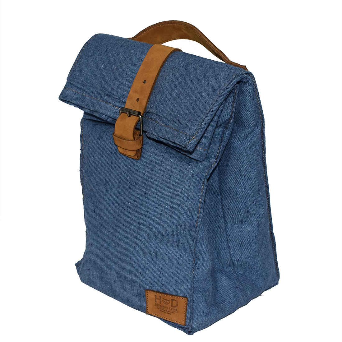 ddc91d7b2a029 Waxed Canvas Reusable Lunch Bag with Grip - Hide   Drink