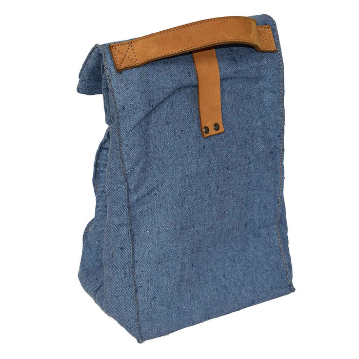 Waxed Canvas Reusable Lunch Bag with Grip