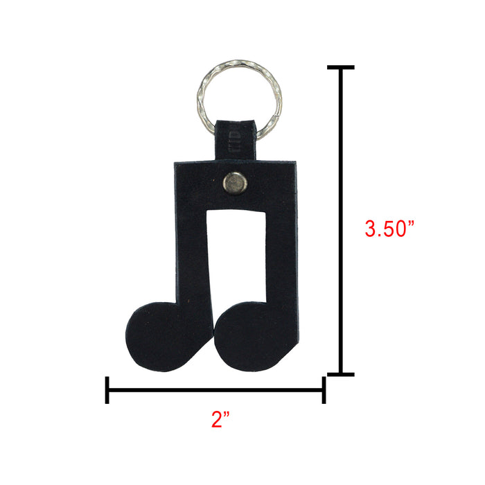 Eighth Notes Keychain