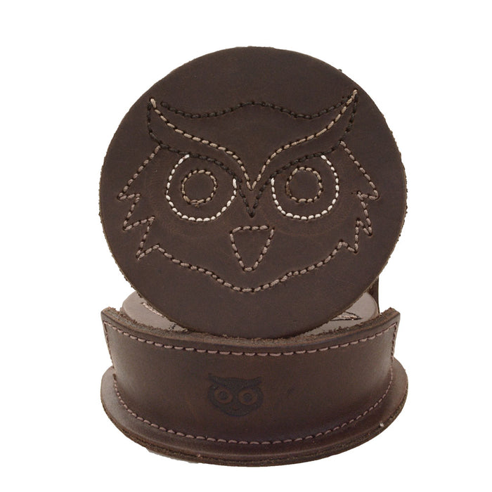 Wild Owl Classic Shaped Coaster Set (6-Pack)