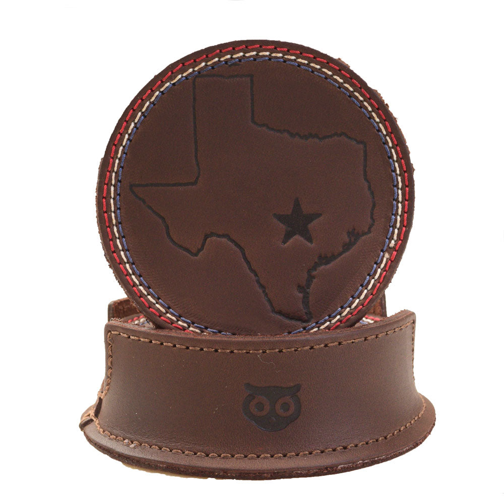 Texas State Coasters with Stitching (6-Pack)