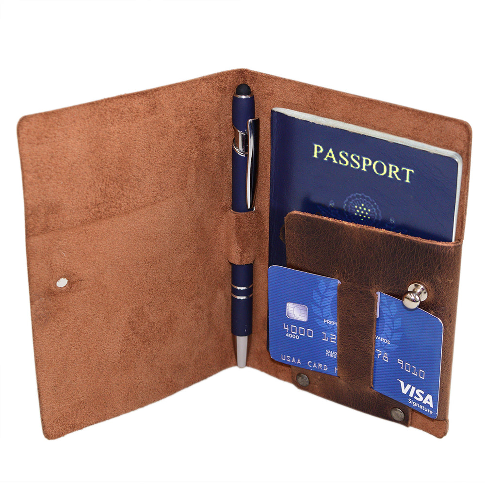Passport Cover With Pen Slot