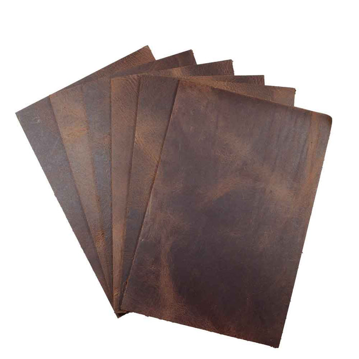 Leather Squared Scraps 4 x 6 in. (6 Pack)