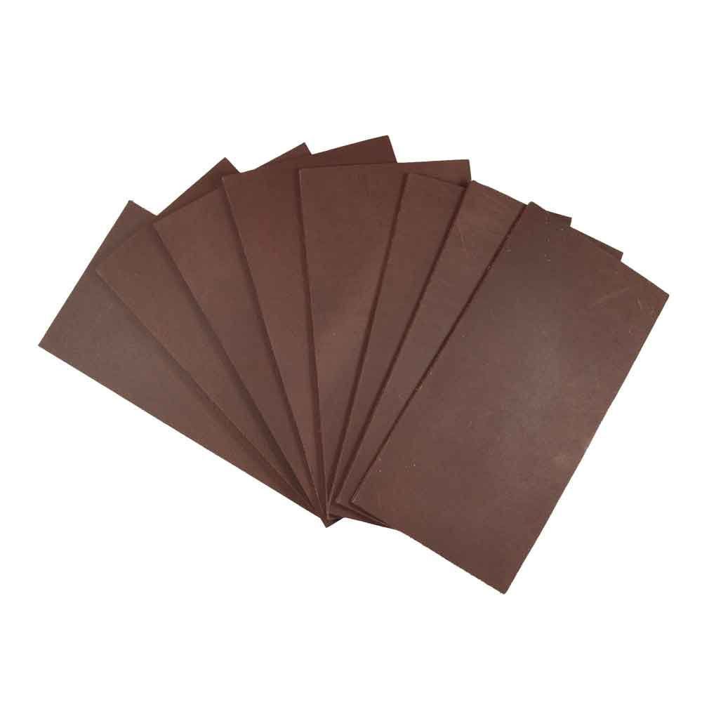 Thick Leather Rectangular Scraps 3 x 6 in. (8 Pack)