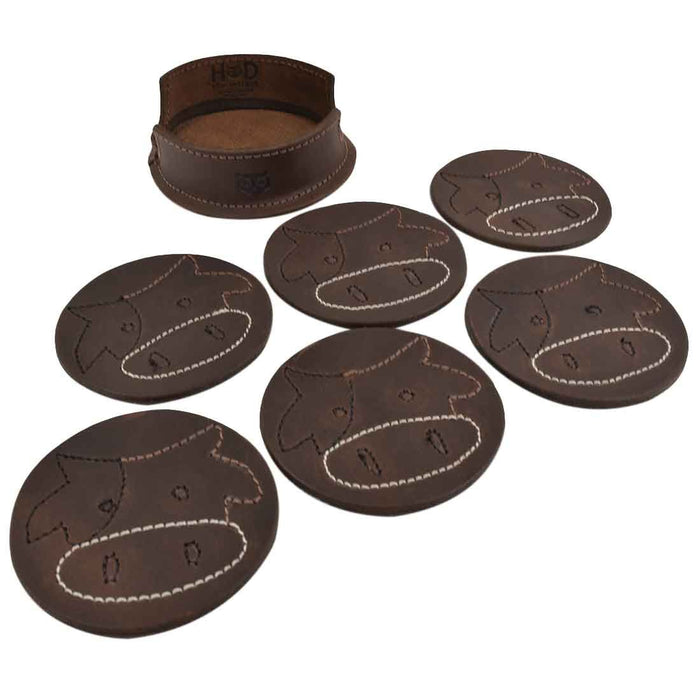 Milk Cow Classic Shaped Coaster Set (6-Pack)