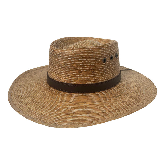 Angel Eyes Wide Brim Hat Handmade from 100% Oaxacan Coconut Palm Leaves - Coconut Brown