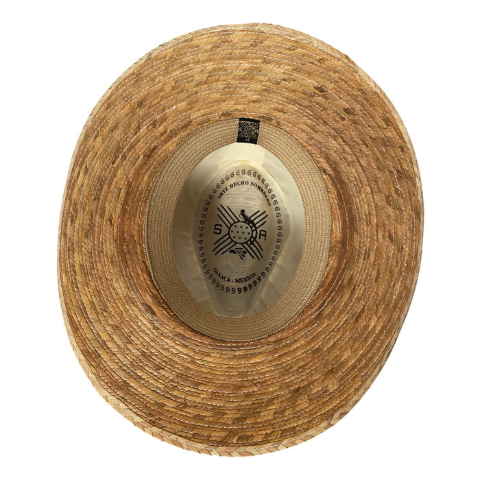 Indiana Eastwood Cowboy Style Hat Handmade from 100% Oaxacan Coconut Palm Leaves - Coconut Brown