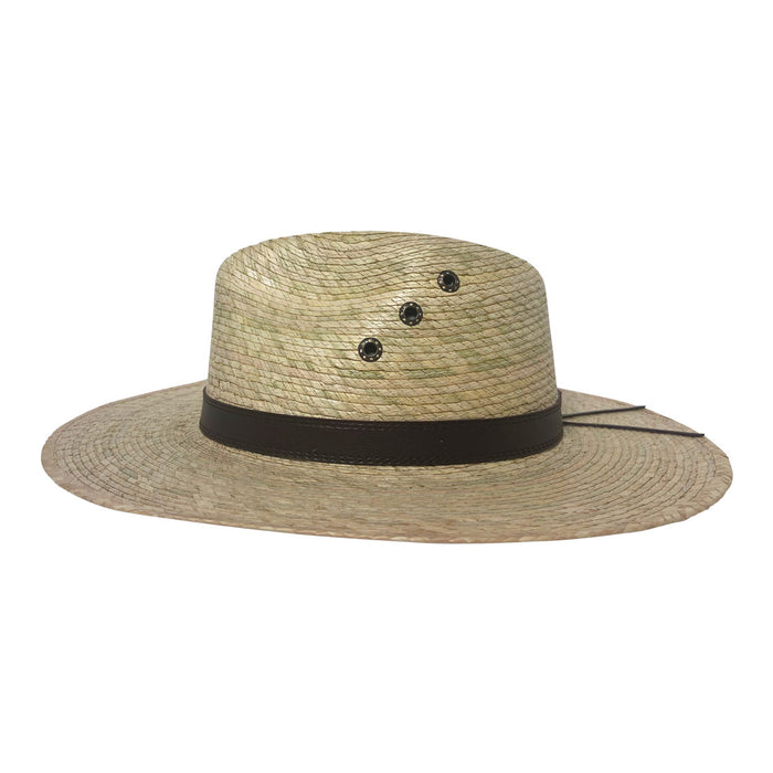 Indiana Eastwood Cowboy Style Hat Handmade from 100% Oaxacan Coconut Palm Leaves - Coconut Milk