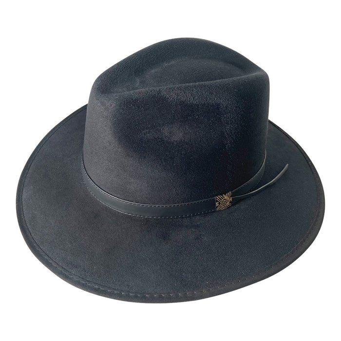 Indiana Eastwood Cowboy Style Hat Handmade from 100% Oaxacan Suede - Burnt Black