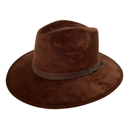 Indiana Eastwood Cowboy Style Hat Handmade from 100% Oaxacan Suede - Chocolate Brown