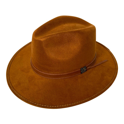 Indiana Eastwood Cowboy Style Hat Handmade from 100% Oaxacan Suede - Old Tobacco Brown