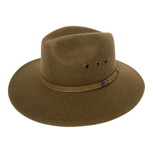 Indiana Eastwood Cowboy Style Hat Handmade from 100% Oaxacan Sheep's Wool - Spanish Olive