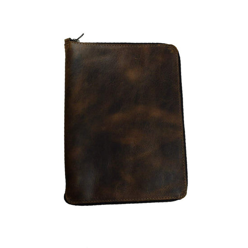 Leather Zippered Journal Cover for Moleskine XL (7.5 x 9.75 in.) Notebook NOT Included.