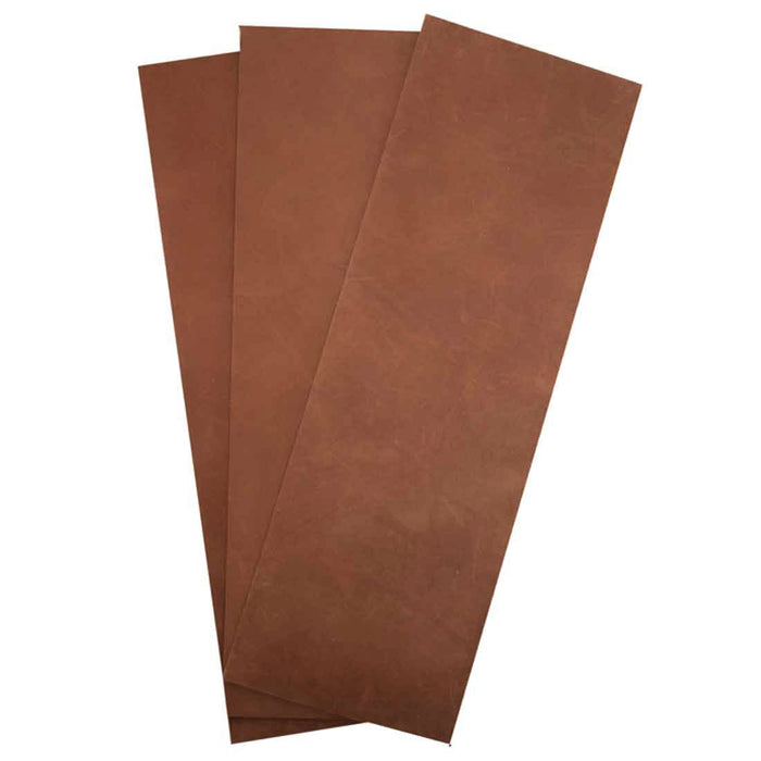 Thick Leather Rectangular Scraps 4 x 12 in. (3 Pack)