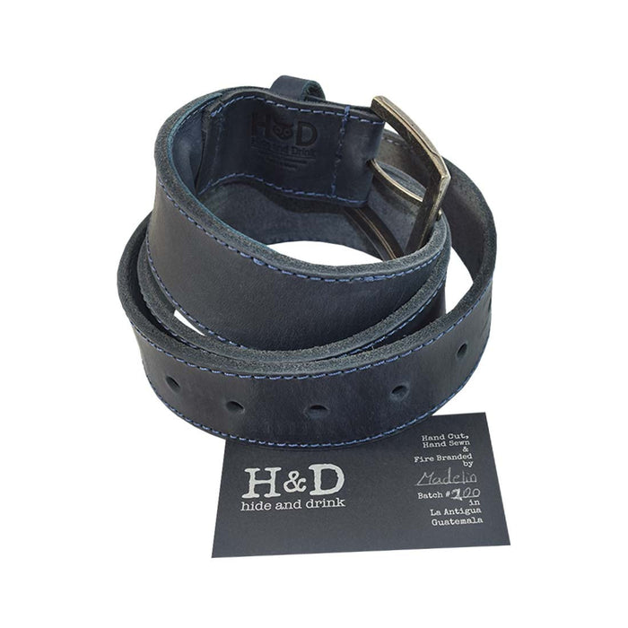Men's Thick Leather Belt With Inner Pocket