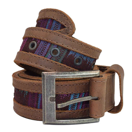 Men's Mayan Thick Leather Belt