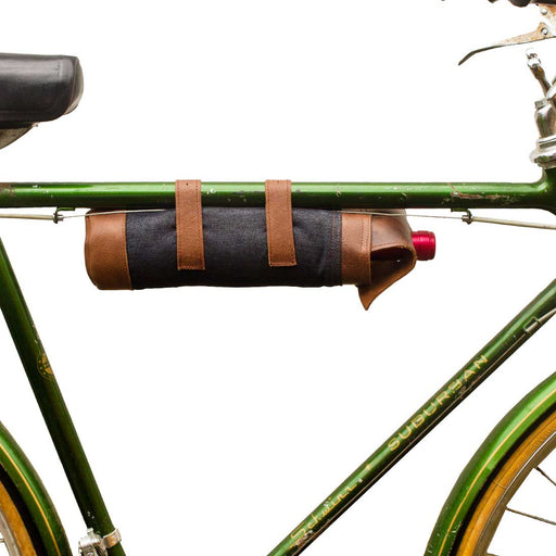 Bicycle Wine Caddy (Denim Wine Carrier) by Hide and Drink