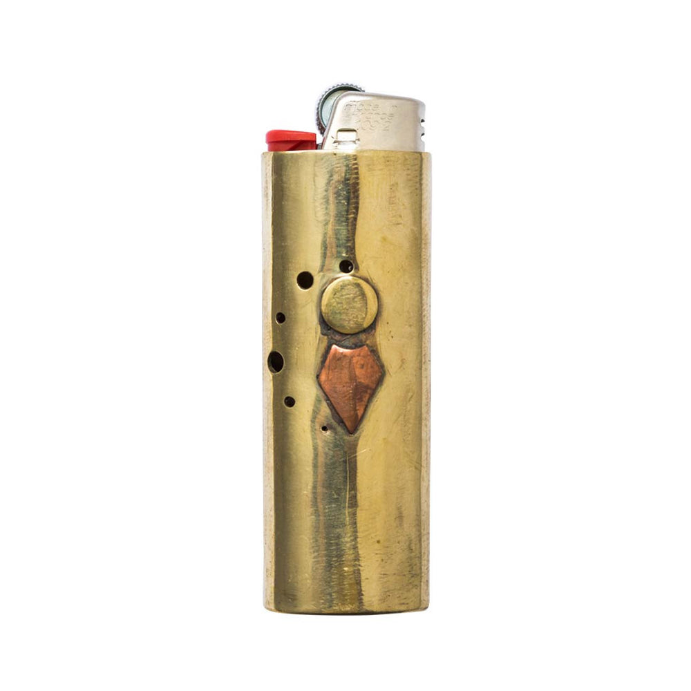 Hand Hammered Bronze Lighter Case