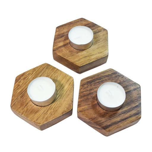 Hexagonal Candle Holder (3-Pack)
