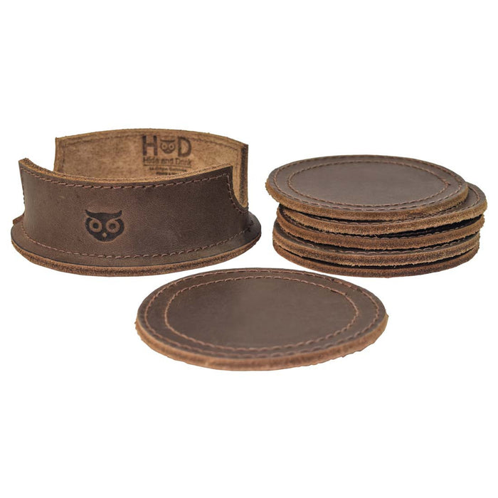 Thick Leather Coasters (6-Pack)