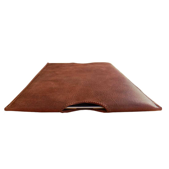 Leather iPad Sleeve by Hide and Drink - Guatemalan Cacao