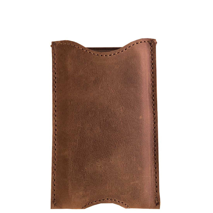 Leather iPhone Sleeve by Hide and Drink - Guatemalan Cacao