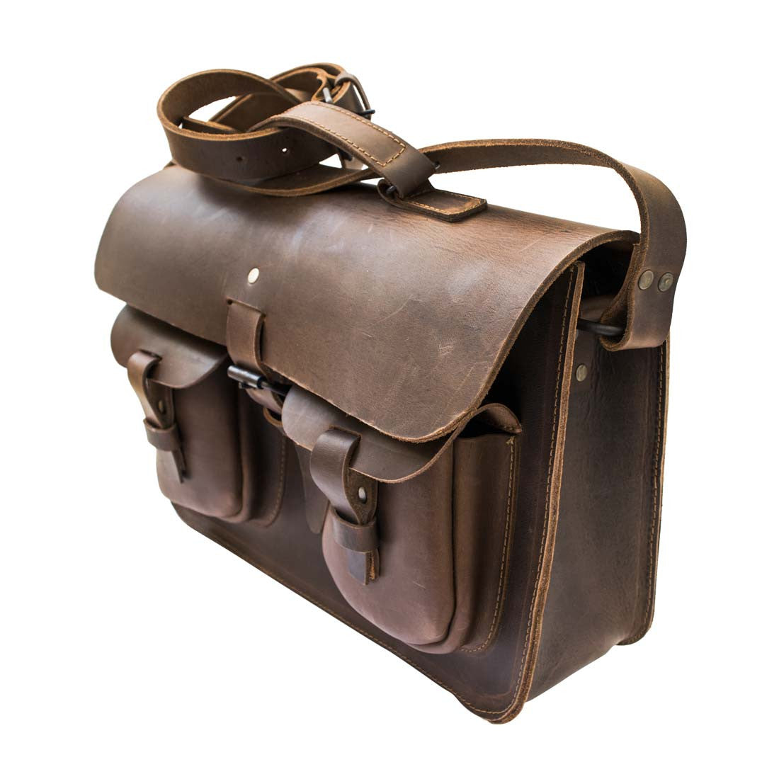 Thick Leather Messenger Bag - Hide   Drink 846ffab7d2d2a