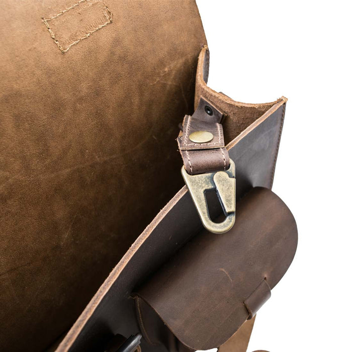 Thick Leather Messenger Bag