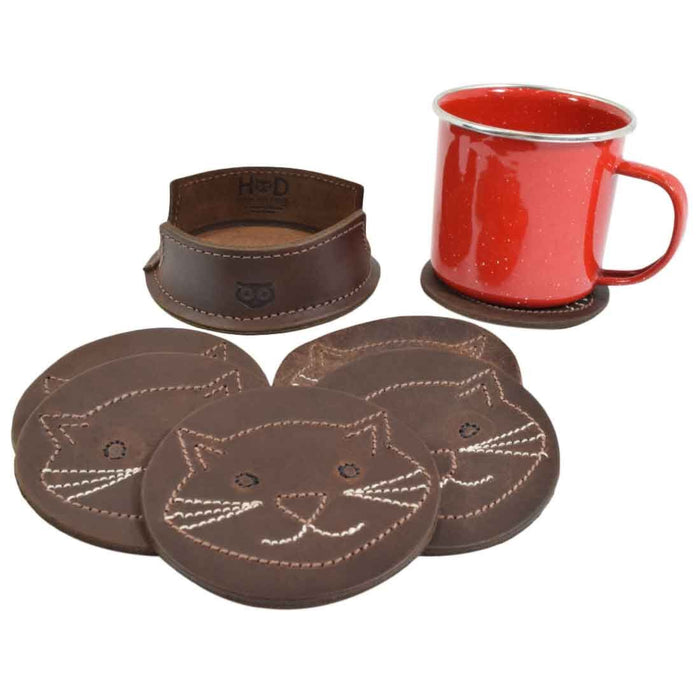 Whiskers Cat Classic Shaped Coaster Set (6-Pack)