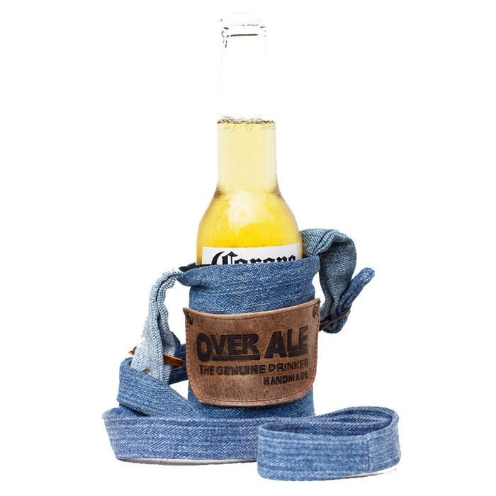 OverAle Denim Drink Strap by Hide and Drink - Repurposed Denim