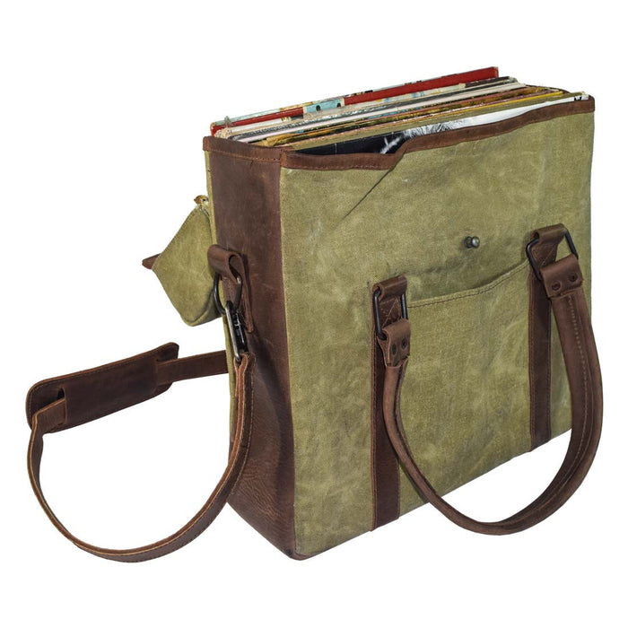 Vinyl Records Messenger Bag