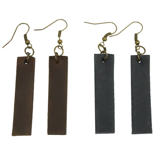 Antique Boho Rectangle Earrings