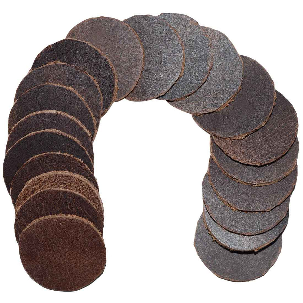 Leather Circles 1 in. (Set of 20)