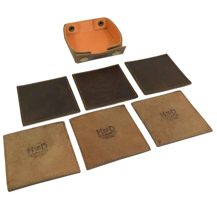 Classic Square Box Coasters Set (6-Pack)