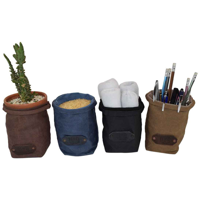Waxed Canvas Storage Planter